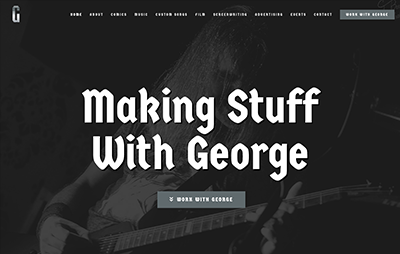 Making Stuff With George Website