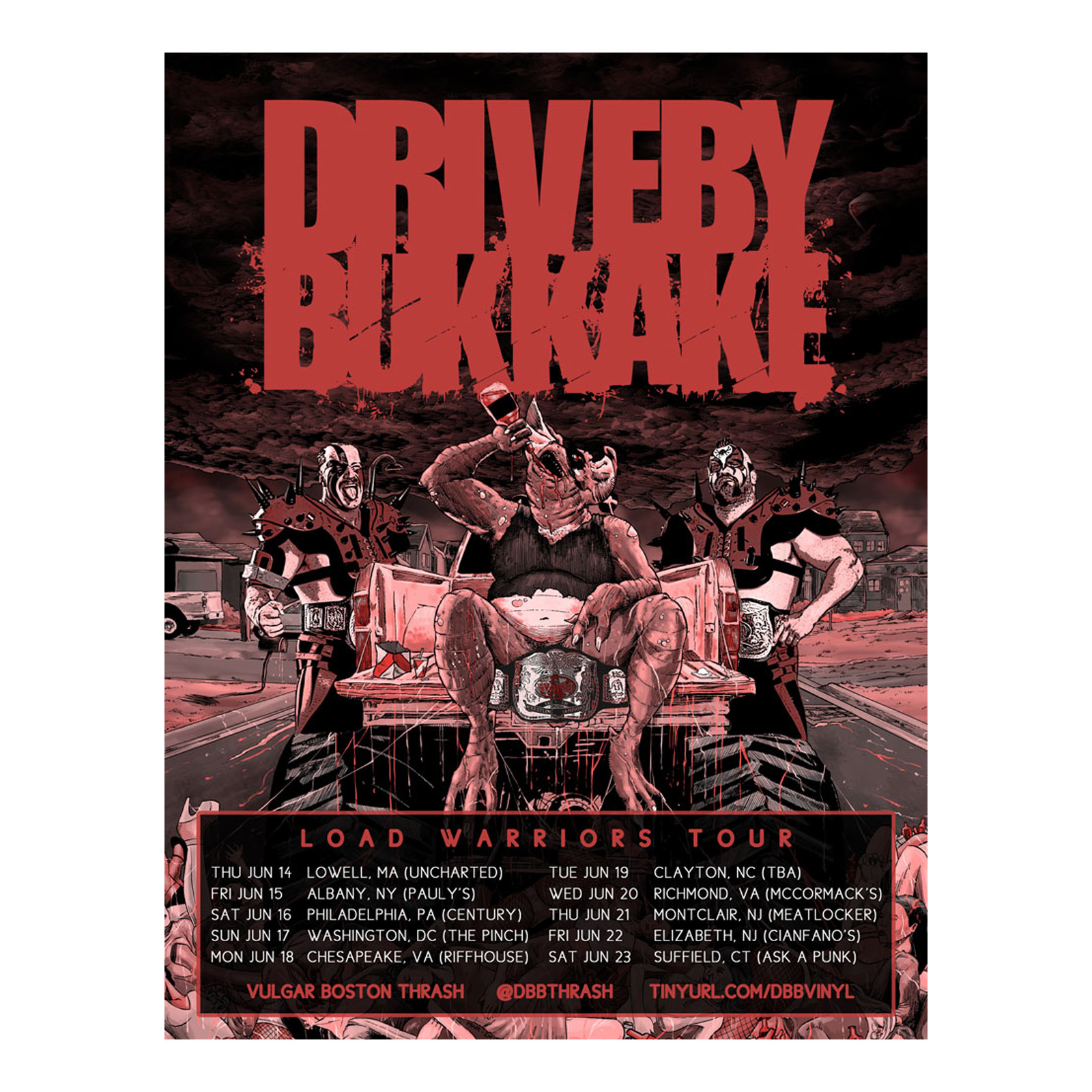 Drive-By Bukkake Load Warriors Tour Flyer