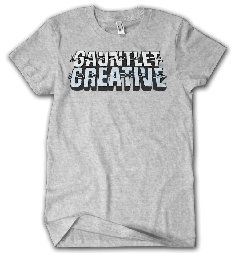 Gauntlet Creative logo grey t-shirt